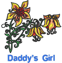 Daddys Girl Embroidery Designs Machine Embroidery Designs