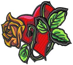 Flower Heart Tattoo embroidery design
