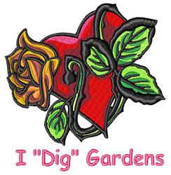 Dig Gardens embroidery design