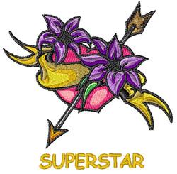 Superstar Tattoo embroidery design