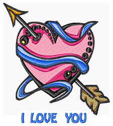 Love You Tattoo embroidery design