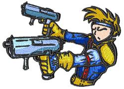 Anime Gun Fighter embroidery design