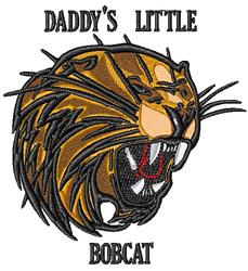 Little Bobcat embroidery design