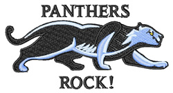 Panthers Rock embroidery design