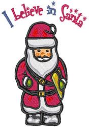 Believe in Santa embroidery design