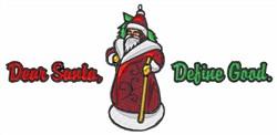 Santa Defining Good embroidery design