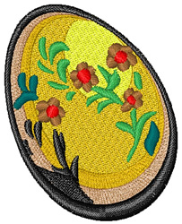 Yellow Easter Egg embroidery design