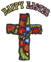 Easter Flower Cross embroidery design