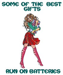 Sexy Women Gifts embroidery design