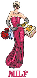 Sexy Woman embroidery design