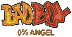 Graffiti Bad Boy embroidery design
