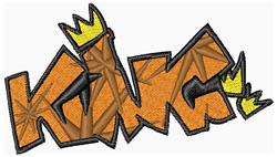 Graffiti King embroidery design
