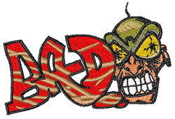 Graffiti Bad embroidery design