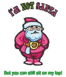 Santas Lap embroidery design