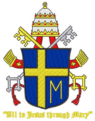 Catholic Pope Crest embroidery design