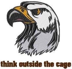 Outside the Cage embroidery design