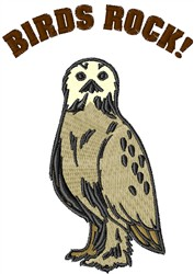 Owls Rock embroidery design