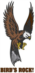 Hunting Eagle embroidery design