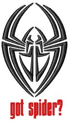 Got Spider? embroidery design