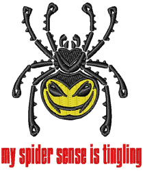 Spider Sense embroidery design