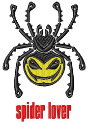 Spider Lover embroidery design