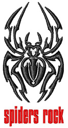Spiders Rock embroidery design