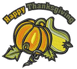 Thankgiving Pumpkin embroidery design