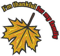 Thankful for Family embroidery design