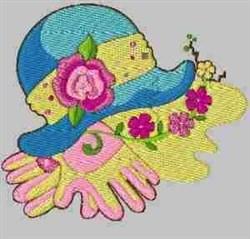 Gardening Gloves Hat embroidery design