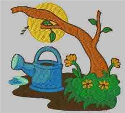 Garden Tree embroidery design