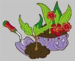 Planting Flowers embroidery design