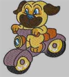 Biker Puppy embroidery design