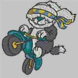 Puppy on Bike embroidery design