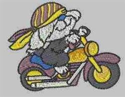 Biker Hound embroidery design