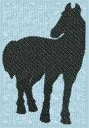 Horse Silhouette embroidery design