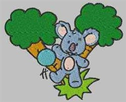 Koala With Ball embroidery design