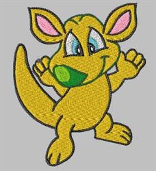 Happy Kangaroo embroidery design