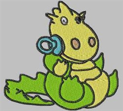 Dragon with Pacifier embroidery design