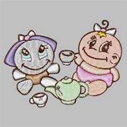 Baby Tea Party embroidery design