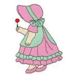 Girl with Lollipop embroidery design