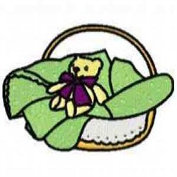 Basket with Bear embroidery design