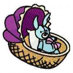 Basket with Bunny embroidery design