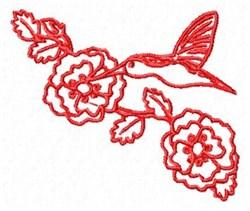 Redwork Hummingbird embroidery design