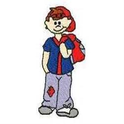 School Boy embroidery design
