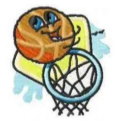 Basketball with Ring embroidery design