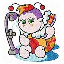 Bathing Ladybug embroidery design