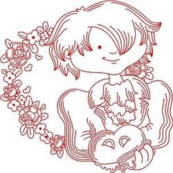 Redwork Groom embroidery design