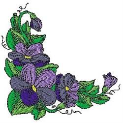 Violets Corner embroidery design