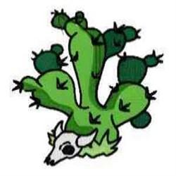 Cactus & Skull embroidery design