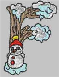 Winter Alphabet F embroidery design